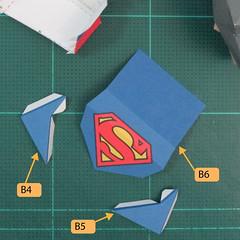 วิธีทำของเล่นโมเดลกระดาษซุปเปอร์แมน (Chibi Superman  Papercraft Model) 024