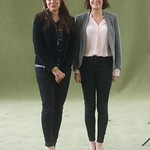 Ramita Navai and Alev Scott pose for photographers |