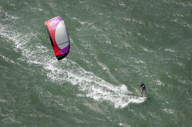 Kite Surfer aerial