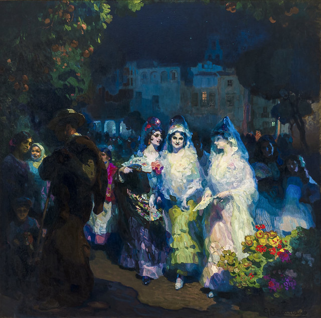 Gustavo Bacarisas (Gibraltar, 1873 - Sevilla, 1971) Sevilla en fiestas (1915)
