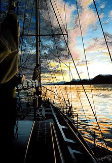 SUNSET FROM SAILBOAT | by S©'rates