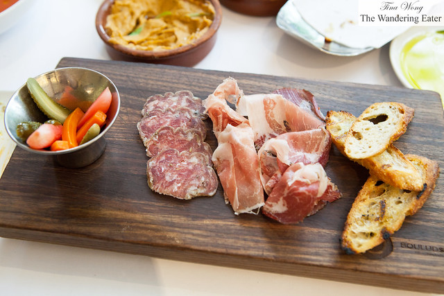 Italian salumi board with house made pickles