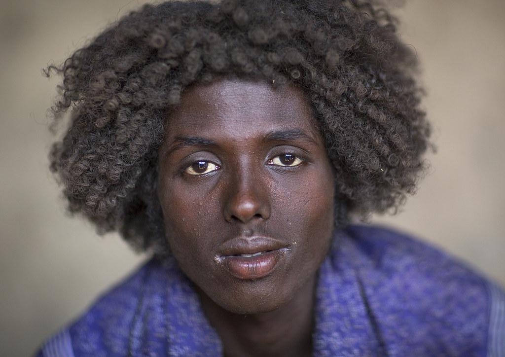 Afar Tribe Man With Curly Hair Assayta Ethiopia C Eric L