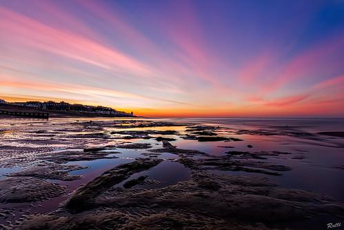 longexposure sea beach sunrise reflections landscape rocks nd lowtide 1022mm bulverhythe canon550d flickrschosenfew