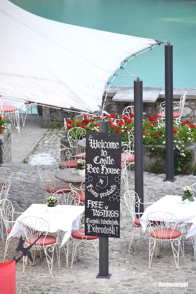 Bledin linnan ravintolan terassi