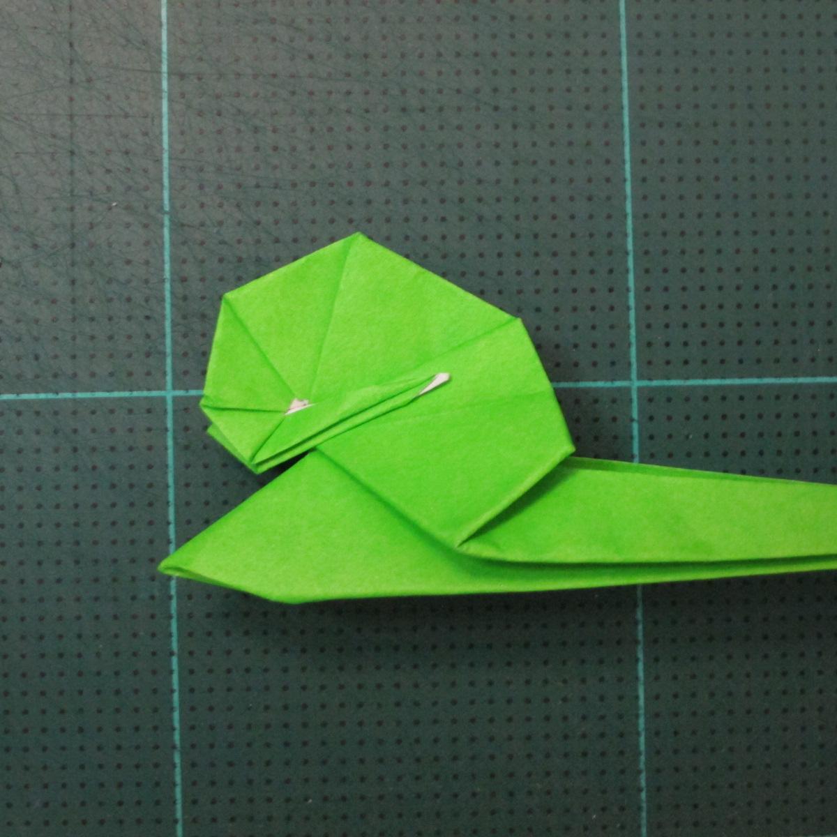 วิธีพับกระดาษเป็นรูปหอยทาก (origami Snail) 023