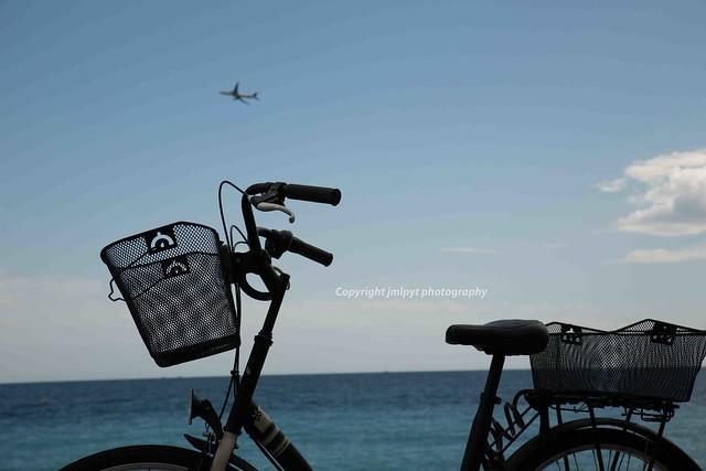 Bicycle at seashore