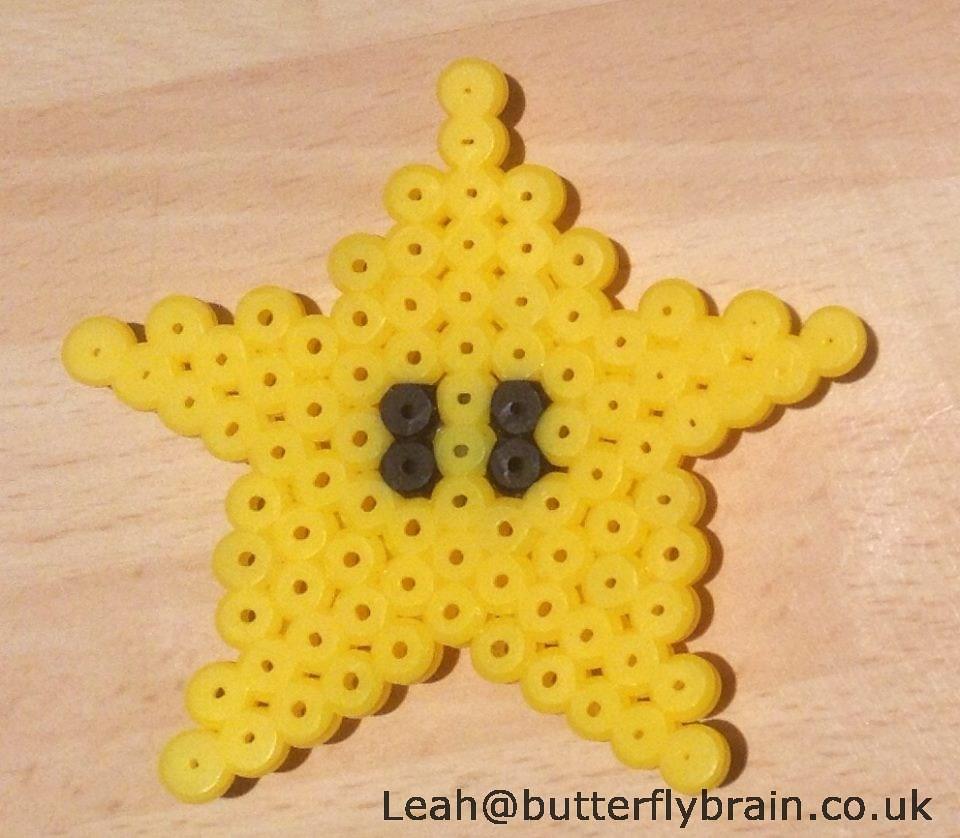 Mario Star - Hama Bead Sprite | Star sprite, made from midi
