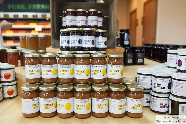 Red Jacket Orchard's fruit jams at Red Jacket Farmstore