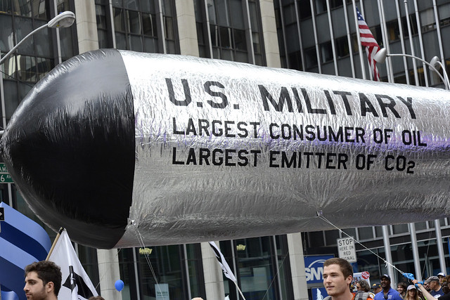 US Military Largest consumer of Oil -- 2014 People's Climate March NYC 89