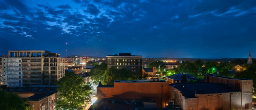 panorama night virginia nikon charlottesville downtownmall d300 nikkorafsdx18105mmf3556edvr bobmical