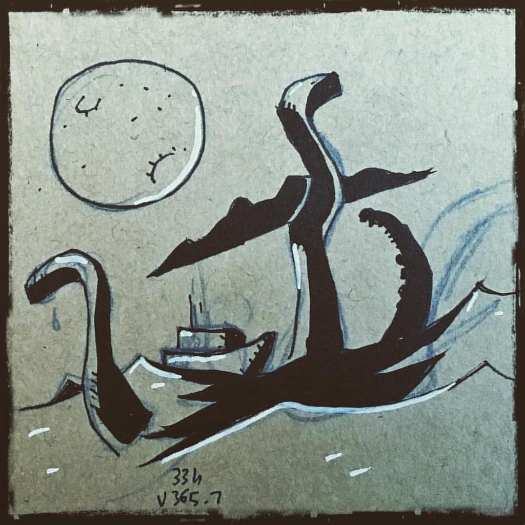 La pleine lune faisait surgir d'étranges créatures marines