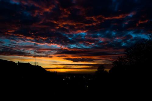 sunset sky sun weather denmark photography evening nikon scenery bluehour århus d3100