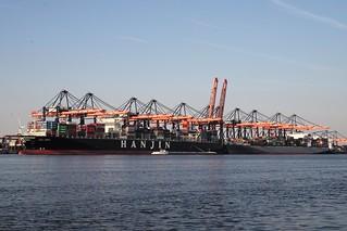 Hanjin America at Rotterdam Port | by romanboed