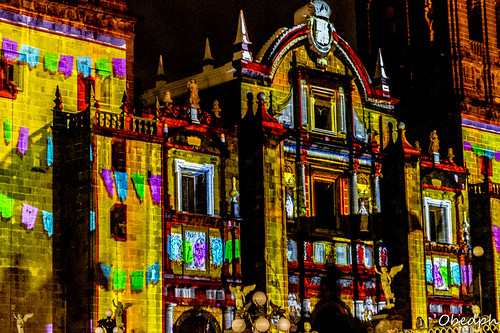 Video Mapping III Catedral de Puebla. México
