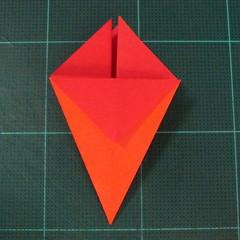 วิธีพับกระดาษเป็นช่อดอกไม้ติดอกเสื้อ (Origami Wedding Chest Flower) 011