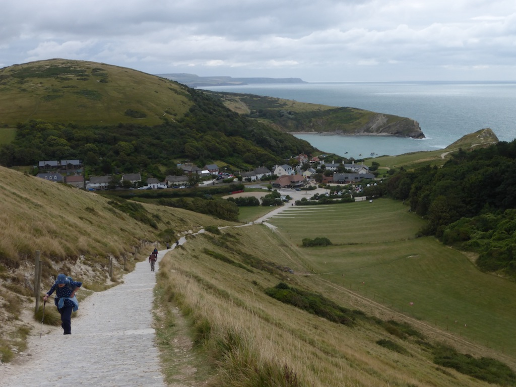 Sunday - setting off from Lulworth