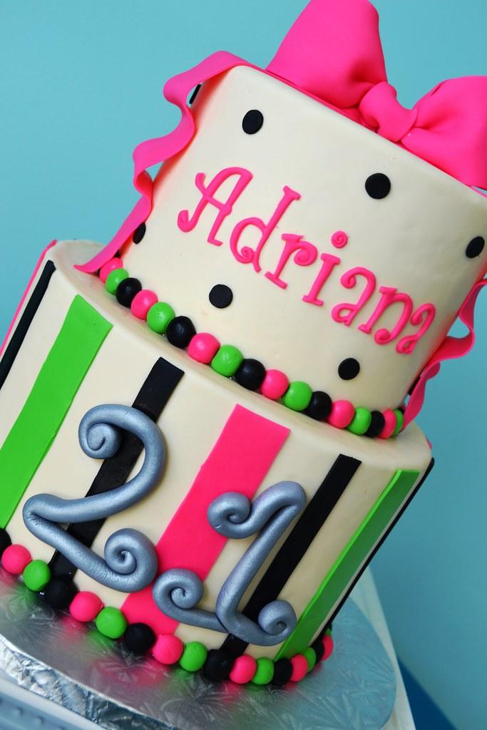 Magnificent Fun 21St Birthday Cake Simply Sweet Creations Flickr Funny Birthday Cards Online Amentibdeldamsfinfo