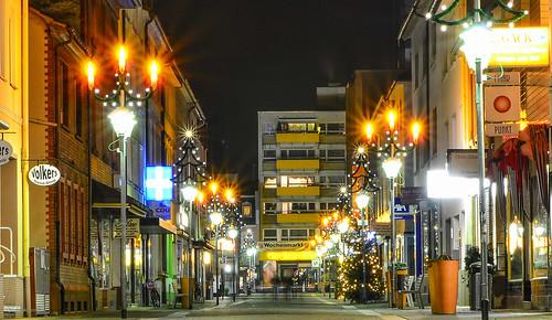 weihnachtliche Fussgängerzone