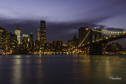 brooklin manhattan newyork nuevayork nocturna south sur view vista