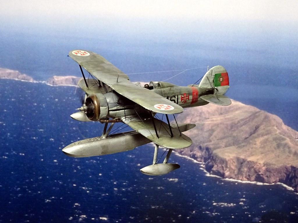 172 Gloster Gladiator Mk. II floatplane conversion; aircraft '461'/ 'Tubarão' of the Esquadrilha de Caça No. 3, Portuguese Aéronautica Militar; Lajed Azores, 1949 Whif/modified Matchbox kit