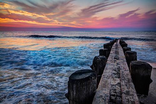 beach hdr jetty sunrise canon 60d bayhead nj photomatix newjersey portfolio