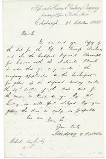 Fife and Kinross Railway Letterhead 1855 | by ian.dinmore