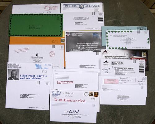 Random Political junk mail | by Judith E. Bell