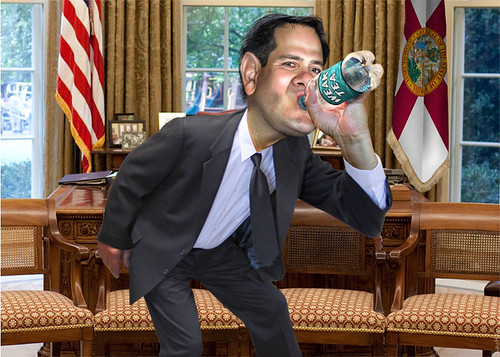 Marco Rubio - Thirsty for Power | by DonkeyHotey