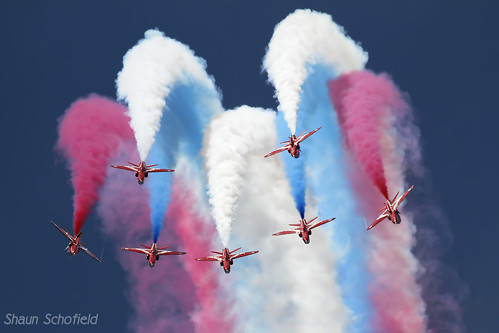 British Aerospace Hawk T1A 'The Red Arrows' Royal Air Force RAF Fairford 12/07/14 | by Shaun Schofield
