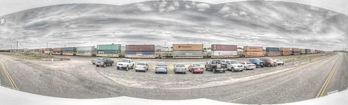 railroad panorama industry train pano rail wyoming traintrack hdr freight cheyenne agricultural panamerican wyo photomatix gsv googlestreetview panamericantrek