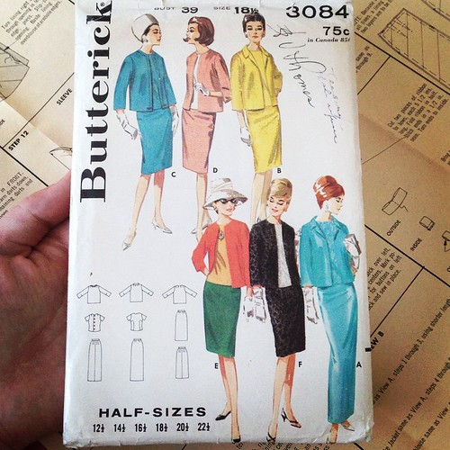 One can only hope to be half as cool as Lady E. #vintagepatterns #sewing