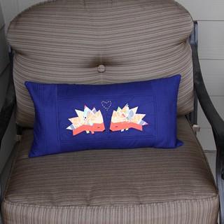 Fort Collins Modern Quilt Guild swap pillow