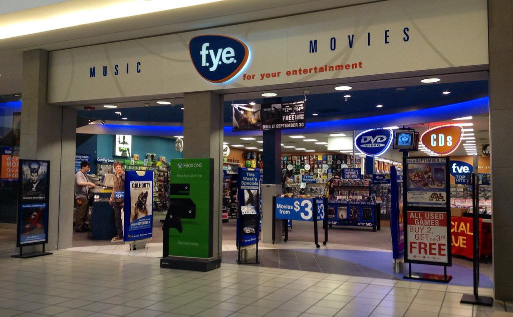 FYE | FYE For Your Entertainment Store  9/2014, pic by Mike