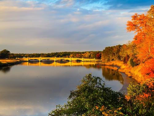 autumn andrewlincolnphotographer colors berkley river bridge foliage thetauntonriver