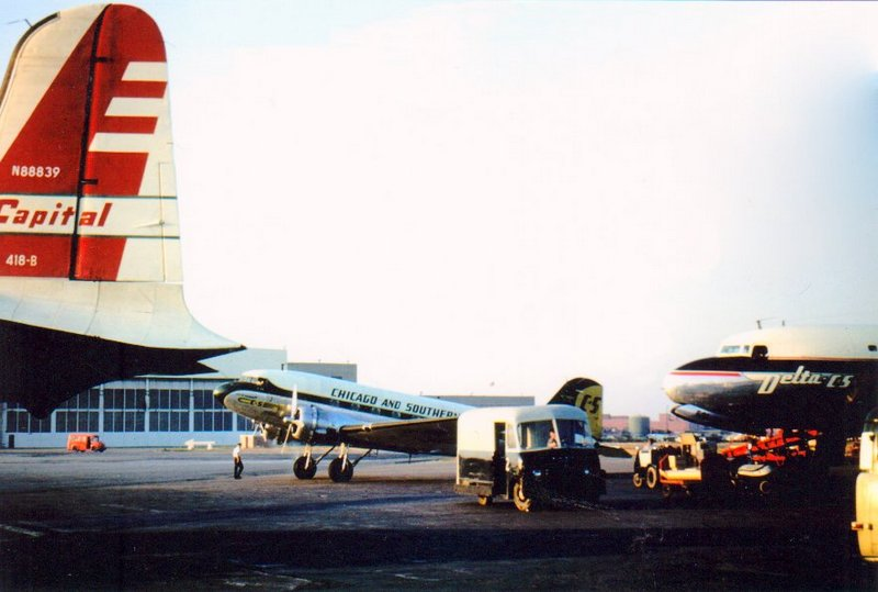 Chicago Midway Airport - Chicago and Southern Airlines - DC-3