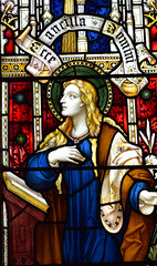 Blessed Virgin at the Annunciation (Clayton & Bell, 1901)
