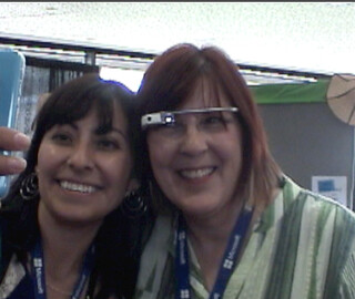 Trish getting Selfie with Google Glass