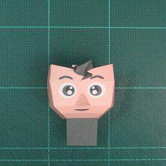 วิธีทำของเล่นโมเดลกระดาษซุปเปอร์แมน (Chibi Superman  Papercraft Model) 007