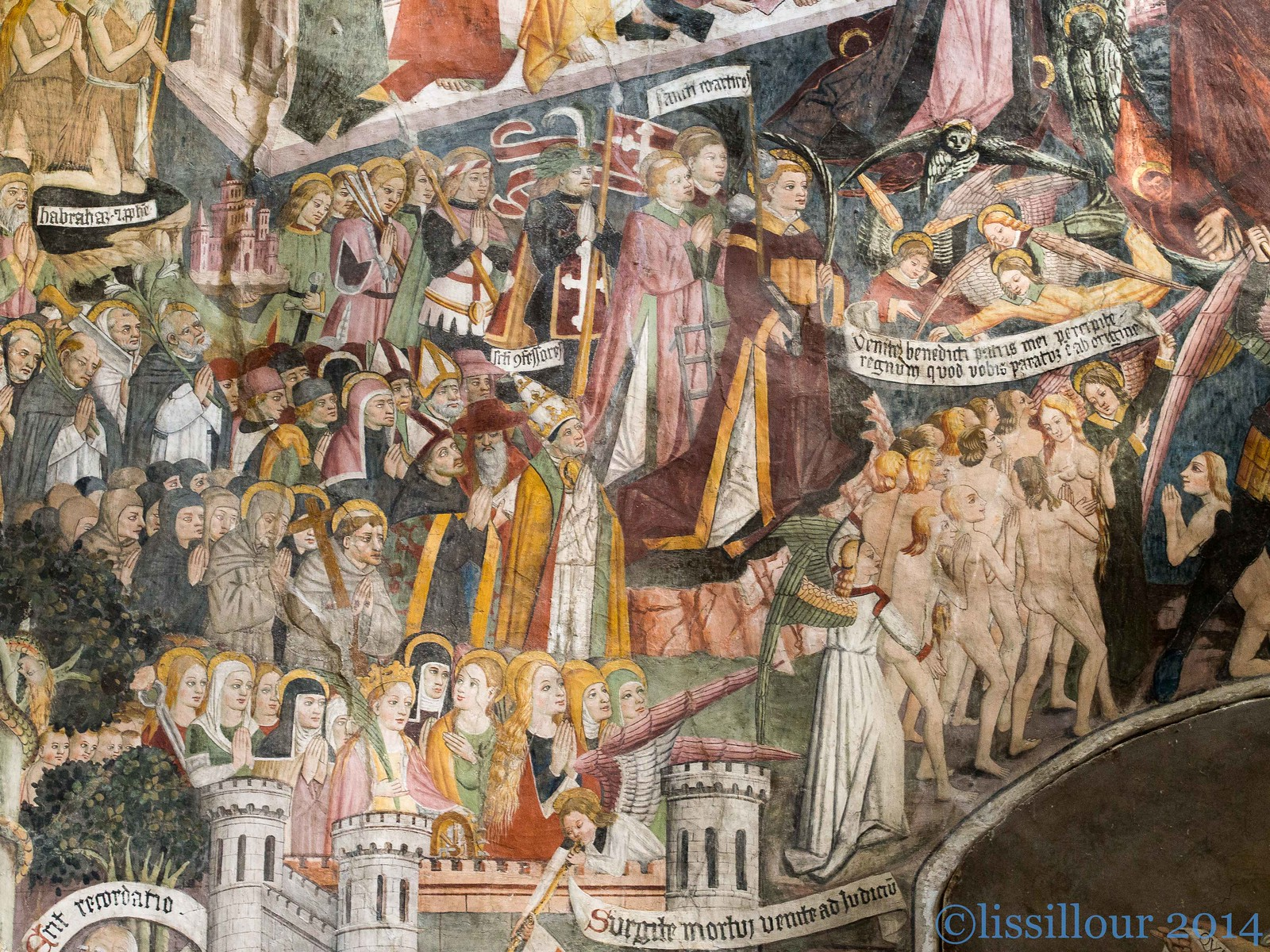 "Detail Jugement dernier ""paradis""-last judgment-Notre-dame des fontaines France Information in English"