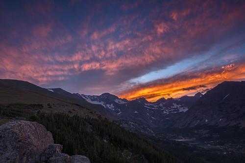 sunset colorado cloudy indianpeaks arapahopeaks
