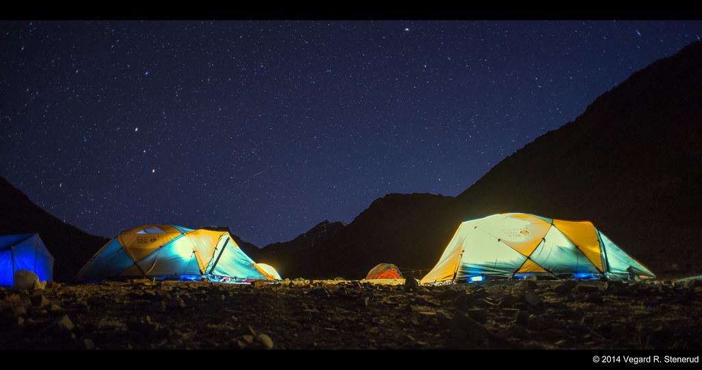 Mankorma Camp by night - Stok Kangri