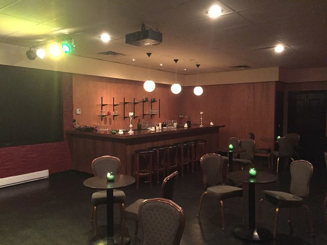 Bar in the back room of the Emerald Supper Club