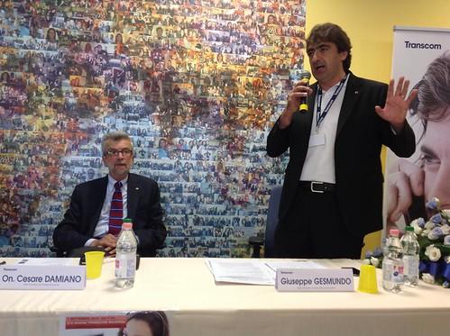 Cesare Damiano in Transcom Bari 05.09.14   by slccgilbari