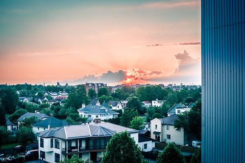 sunset summer nikon holidays pov balcony may latvia nikkor riga lightroom vasara balconyview 2014 latvija viewfromabalcony balconysunset saulriets nikond600 plavnieki maijs saulrietsrīgā saulrietspilsētā