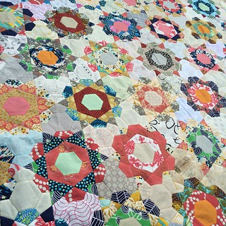 My rose star quilt top