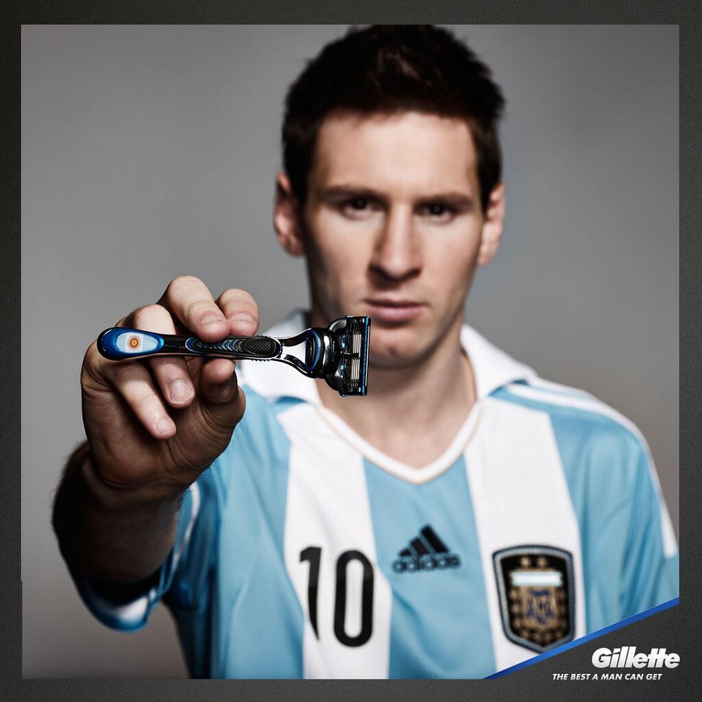 Resultado de imagen para Lionel Messi y Gillette