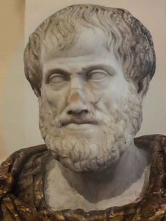 Bust of the Greek Philosopher Aristotle Roman copy of Greek original by Lysippus at the Palazzo Altemps in Rome, Italy | by mharrsch
