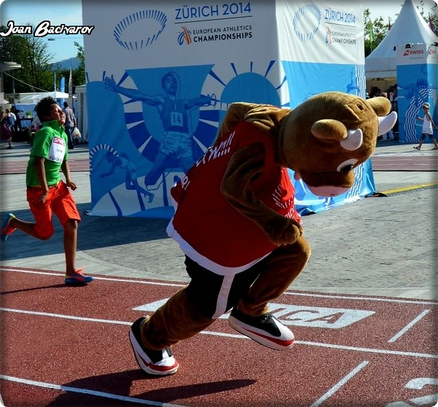Cooly - the mascot of the  2014 European Athletics Championships Zurich  (12-17 August 2014)