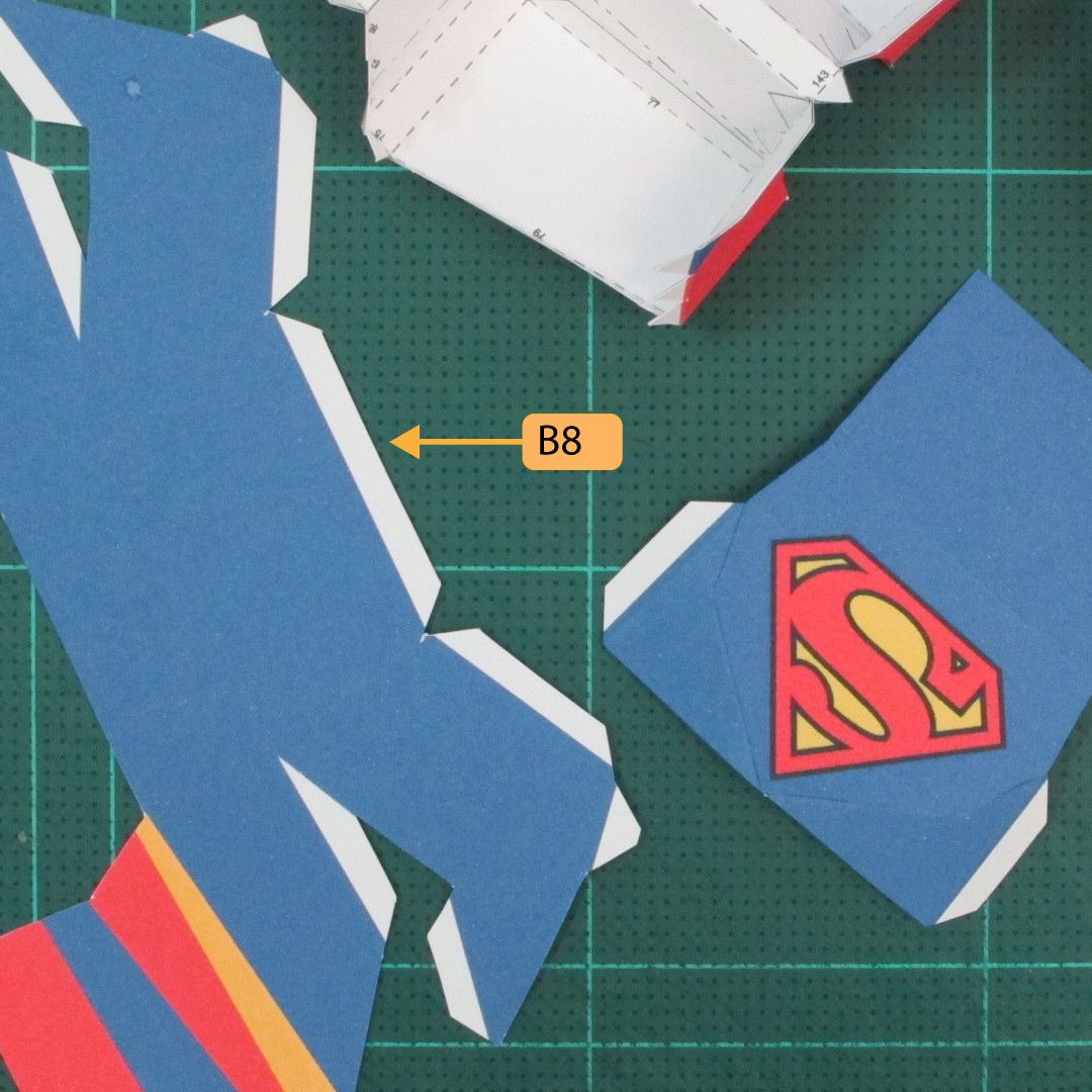 วิธีทำของเล่นโมเดลกระดาษซุปเปอร์แมน (Chibi Superman  Papercraft Model) 026